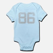 86, Grey, Vintage Infant Bodysuit