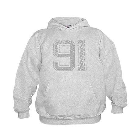 91, Grey, Vintage Kids Hoodie