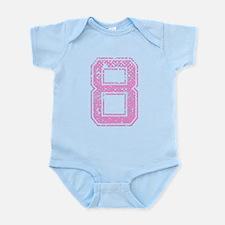 8, Pink Infant Bodysuit
