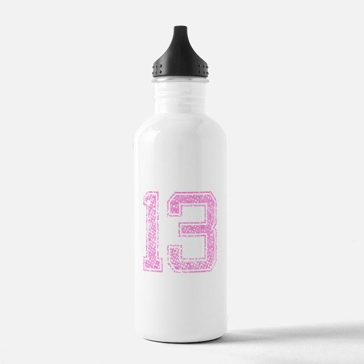13, Pink Water Bottle