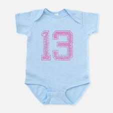 13, Pink Infant Bodysuit