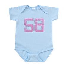 58, Pink Infant Bodysuit