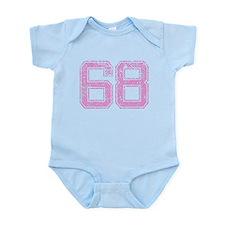 68, Pink Infant Bodysuit