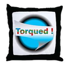 Torqued! Throw Pillow