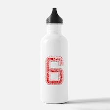 6, Red, Vintage Water Bottle
