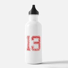 13, Red, Vintage Water Bottle