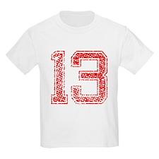 13, Red, Vintage T-Shirt