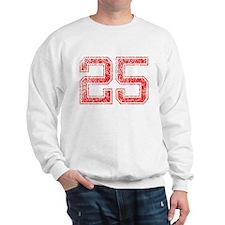 25, Red, Vintage Sweatshirt