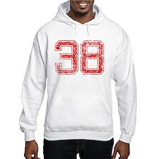 38, Red, Vintage Hoodie