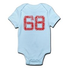 68, Red, Vintage Infant Bodysuit