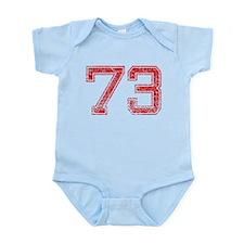 73, Red, Vintage Infant Bodysuit