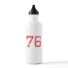 76, Red, Vintage Water Bottle