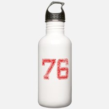 76, Red, Vintage Water Bottle