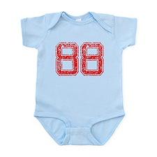88, Red, Vintage Infant Bodysuit