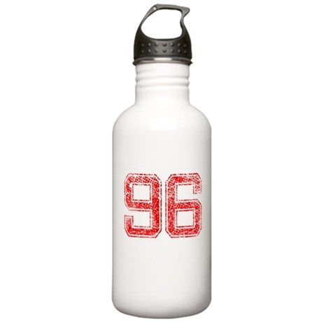 96, Red, Vintage Stainless Water Bottle 1.0L