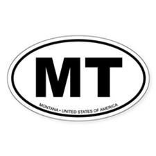 Montana Oval Decal