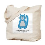 Mean Kitty Knitting Tote Bag