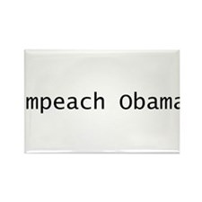 impeach obama text Rectangle Magnet