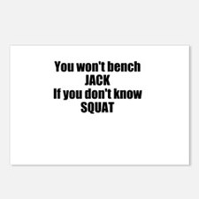 You wont bench or squat Postcards (Package of 8)