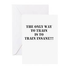 Train insane (beastmode) Greeting Cards (Pk of 20)