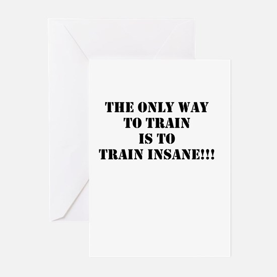Train insane (beastmode) Greeting Cards (Pk of 20)
