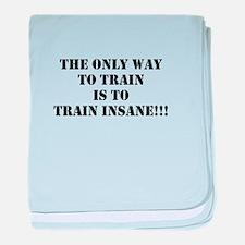 Train insane (beastmode) baby blanket