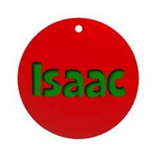 Isaac Red and Green Ornament (Round)