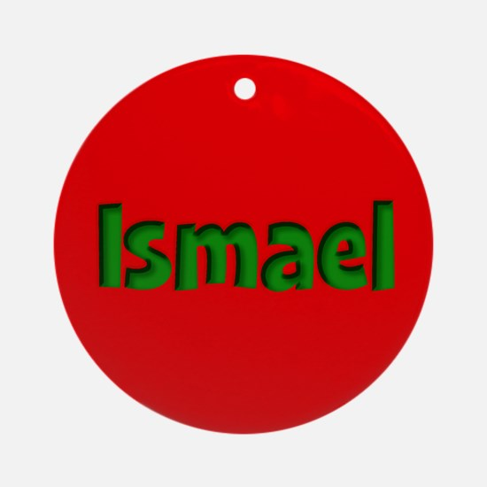 Ismael Red and Green Ornament (Round)