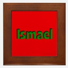 Ismael Red and Green Framed Tile