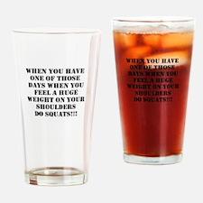 Squat the world Drinking Glass
