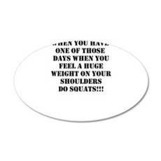 Squat the world Wall Decal