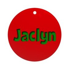 Jaclyn Red and Green Ornament (Round)