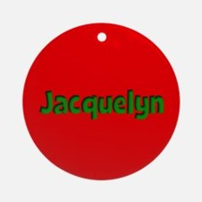 Jacquelyn Red and Green Ornament (Round)