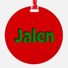 Jalen Red and Green Ornament