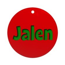 Jalen Red and Green Ornament (Round)