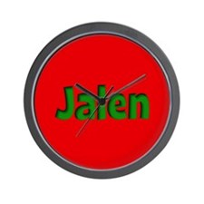 Jalen Red and Green Wall Clock