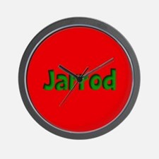 Jarrod Red and Green Wall Clock