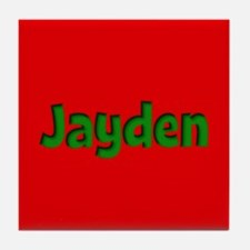 Jayden Red and Green Tile Coaster