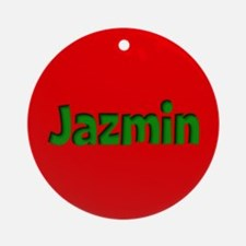 Jazmin Red and Green Ornament (Round)