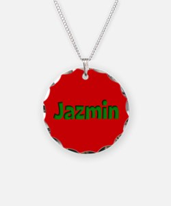 Jazmin Red and Green Necklace