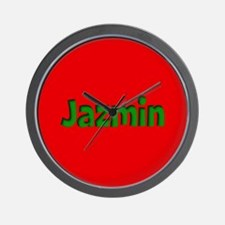 Jazmin Red and Green Wall Clock
