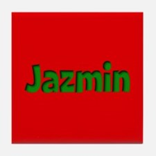 Jazmin Red and Green Tile Coaster