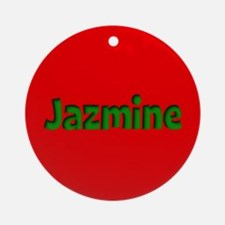 Jazmine Red and Green Ornament (Round)