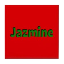 Jazmine Red and Green Tile Coaster