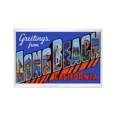 Long Beach California Rectangle Magnet