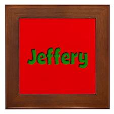 Jeffery Red and Green Framed Tile