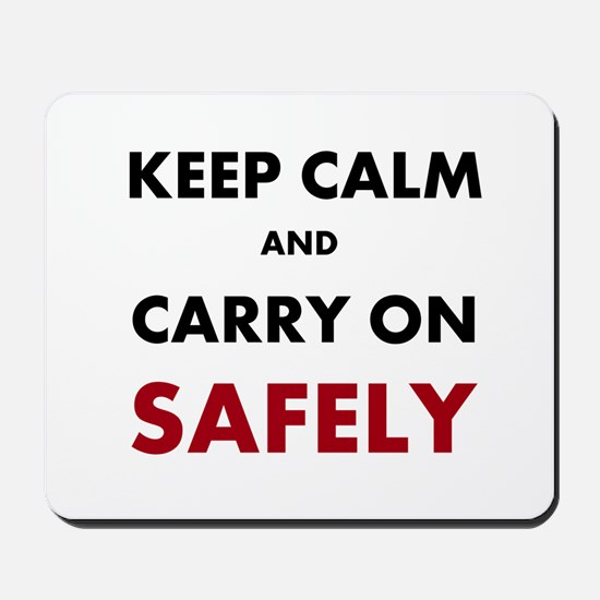 Health and Safety Keep Calm Slogan Mousepad