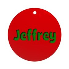 Jeffrey Red and Green Ornament (Round)