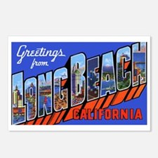 Long Beach California Postcards (Package of 8)