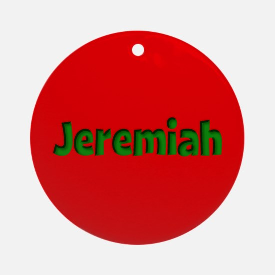 Jeremiah Red and Green Ornament (Round)